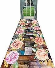 YANZHEN Läufer Flur Teppich Blumenmuster