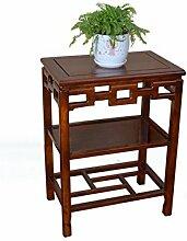YANZHEN Massivholz rechteckig Blume Rack Boden - Typ Pflanzen Bonsai Blume Racks Schlafzimmer Wohnzimmer Studie Klassische Blume Regal Pflanzentreppe