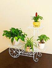 YANZHEN Mode Eisen Multi-Layer-Blumen-Racks Bonsai-Rahmen Wohnzimmer Balkone Fahrrad-Blumen-Racks Pflanzentreppe ( größe : 76cm )