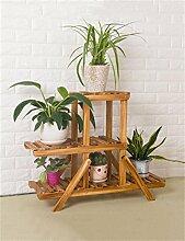 YANZHEN Multi-Tier Holzboden Blumentopf Regal, Pflanzen stehen, Blumenregal für Wohnzimmer, Balkon Pflanzentreppe ( größe : M )