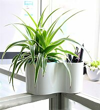 YANZHEN Office-Desktop kreative Sammlung von Kunststoff-Blumentöpfe Automatische Wasseraufnahme können einfache Lagerung Pflanzen Blumentöpfe Heimtextilien ( Farbe : A )