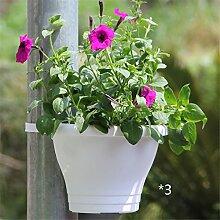 YANZHEN Pipeline Blumentöpfe Bündel zylindrische Kunststoff Wand montiert Blumentöpfe Kreative Pflanzen Innen-und Außenbereich Topfpflanzen Heimtextilien ( Farbe : C-3 piece )