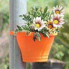 YANZHEN Pipeline Blumentöpfe Bündel zylindrische Kunststoff Wand montiert Blumentöpfe Kreative Pflanzen Innen-und Außenbereich Topfpflanzen Heimtextilien ( Farbe : B-6 piece )