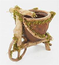YANZHEN Töpferei Einrad Blumentopf Kreative Hausdekoration Handgefertigte Holz Handwerk