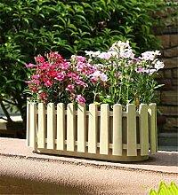 YANZHEN Zaun Töpfe Rectangular Kunststoff Blumentöpfe Home Balkon Pflanzung Gemüse Pflanzung Blumen Heimtextilien ( Farbe : A )