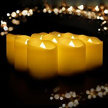 YAOBLUESEA 18er LED Kerzen Teelicht Kerze