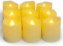 YAOBLUESEA 9er LED Kerzen Teelicht Kerze