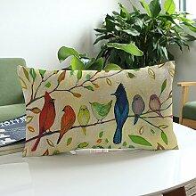 Yaohxu Kissenbezüge 40X50,Blume Drucken Sofa Bett