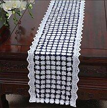 YAONAI Bestickte Spitze Tischläufer für Hochzeit