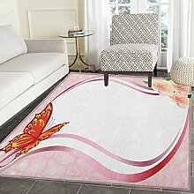 Yaoni Butterfly Print Area Rug Abstraktes Design
