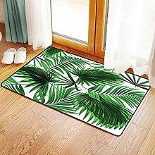 Yaoni Rutschfester Badvorleger, Palm Leaf,