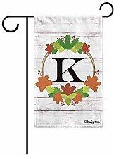 Yard Banner,Willkommen Herbst Kranz Monogramm K