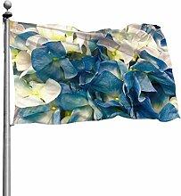 Yard Flags Hortensie Blau Weiß Blume Blüte