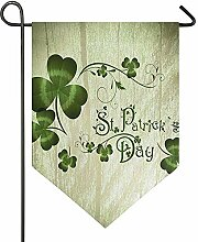 Yard Flags,St. Patrick Day Shamrock Vintage Holz