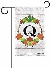Yard Flags,Willkommen Herbst Kranz Monogramm Q