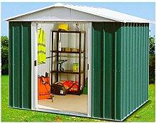 Yardmaster Metall-Gerätehaus Bayern 66 Geräteschuppen Gartenhaus ca. 3,46 m²