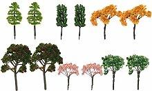 Yardwe 12 STÜCKE Miniatur Fee Garten Baum Pflanze
