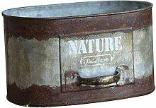 Yardwe 1pc Eisen Kunst Blumenbehälter Retro