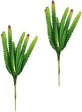 Yardwe 2Pcs Künstliche Sukkulenten Pflanzen