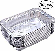 Yardwe 30 STÜCKE Alu Grillschalen Aluminium