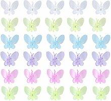 Yardwe 30 STÜCKE Libelle Orchidee Clips Pflanze