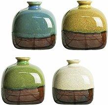 Yardwe 4 Stück Kleine Keramikvase Set Grüne