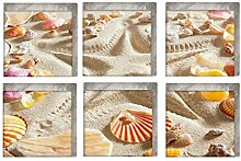 Yardwe 6 Stück Anti Rutsch Sticker Beach Pattern
