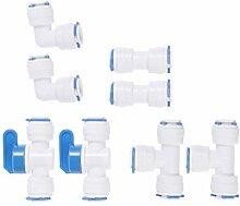 Yardwe 8 Stücke Kunststoff Schlauchverbinder