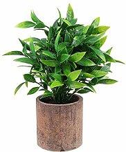 Yardwe Fensteranzeige Künstliche Pflanze Desktop