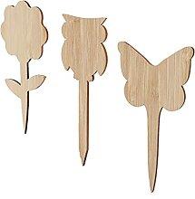 Yardwe Holz Anlage Etiketten Zeichen Marker 60Pcs