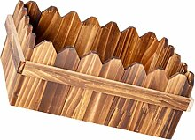 Yardwe Holz Pflanzer Box Blumentopf Rustikalen