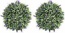 Yardwe künstliche Lavendel Kugel Topiary Ball