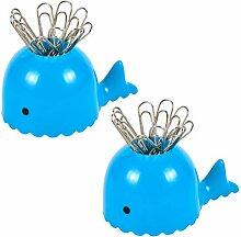 Yardwe Magnetische Büroklammer Halter Whale Form