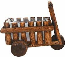 Yardwe Pflanztopf Holz Wagen Persönlichkeit