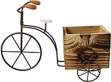 Yardwe Wohnkultur Fahrrad Holz Blumenkasten