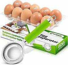 Yarmoshi Edelstahl-Eiertrenner, filtert Eigelb von