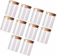 YARNOW 10 Stück Glas mit Luftdicht Verschlossenem