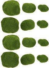 YARNOW 12Pcs Grün Moos Kugeln Künstliche Moos