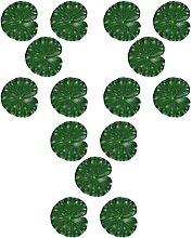 YARNOW 15Pcs Lily Pads Künstliche Lotus Blätter