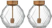 YARNOW 2Pcs Glas Honig Glas Honig Topf Glas Honig