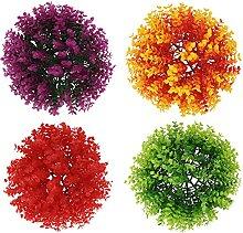 YARNOW 4Pcs Künstliche Pflanze Topiary Ball Faux