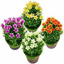 YARNOW 4Pcs Topf Künstliche Pflanze Kleine