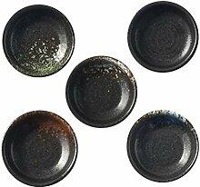 YARNOW 5Pcs Keramik Glas Sojasauce Teller Mini