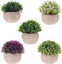 YARNOW 5PCS Topf Künstliche Pflanze Kunststoff