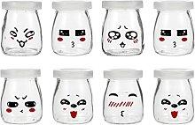 YARNOW 8Pcs 100Ml Klare Glas Joghurt Gläser mit