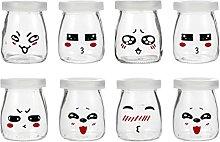 YARNOW 8Pcs 200Ml Klare Glas Joghurt Gläser mit