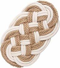 YARNOW Baumwollfaden Weben Untersetzer Tasse