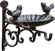 YARNOW Chic Eisen Vogel Feeder mit Vogel Skulptur