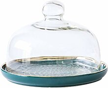 YARNOW Glas Dome mit Keramik Basis Mini Kuchen