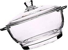 YARNOW Glas Mischen Schalen mit Deckel Klar Salat
